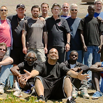 Group photo of Sacred Path Men's Retreat, Fall 2014